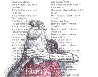 Tear In My Heart lyric print