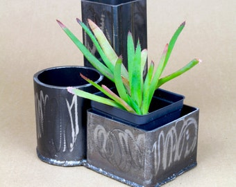 Three Pipe Graffiti Planter