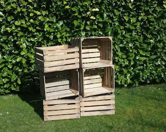 Wooden Vintage Wooden Crates x 6