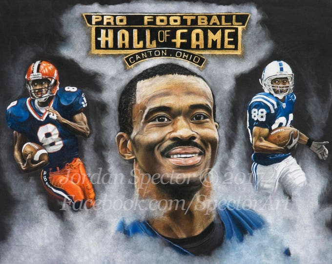 """Marvin Harrison """"Colts Finest"""" open edition art print - 16x20 inches"""