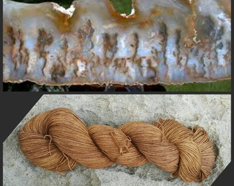 Hand Dyed Yarn, Merino and Nylon Fingering Weight Sock Yarn Perfect for Socks, Shawls and Other Lightweight Accessories - Point Plume Agate