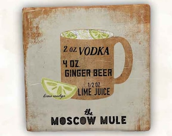 Moscow Mule Sandstone Coaster