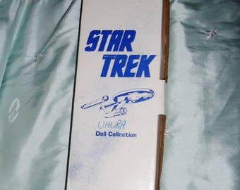 "Vintage Star Trek Uhura Porcelain Doll, Very RARE Star Trek Hamilton, Ernest Uhura Porcelain 14"" Doll, Box, Tag, COA"