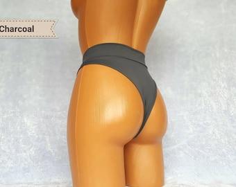 High waist bikini bottom 90s High waist bikini bottoms Cheeky Bikini Bottoms Thong bikini Micro bikini High waisted bikini Thong bikini
