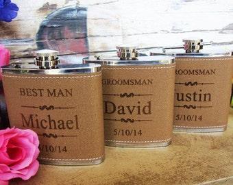 5 Personalized Groomsman Flask