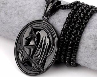 Stunning black necklace Virgin Mary necklace Mary, Mary, Virgin