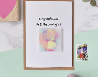 Personalised 'Congratulations'  Wedding Confetti Card