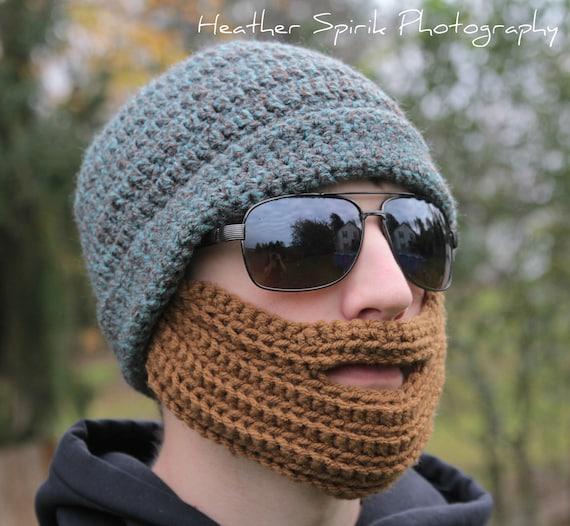 Crochet Beard Hat Pattern Adult Beard Hat Skiing Snowboarding