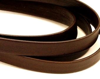 50 cm Nappa Leather flat 10 mm/dark brown