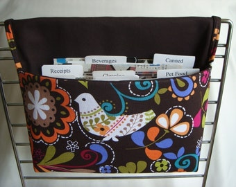 Coupon Organizer /Budget Organizer Holder - Birds of Norway - Michael Miller