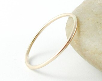 Skinny Gold Ring, 14K Gold Filled Ring, Gold Stacking Ring, Thin Gold Ring, Gold Band Ring, Midi Ring, Woman's Ring, Knuckle Ring