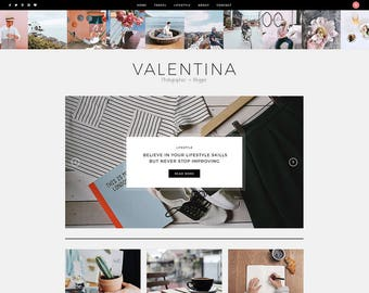 WordPress Theme / WordPress Blog Theme / WordPress Template / WordPress Theme Blog / WordPress Theme Responsive / WordPress Blog / Valentina