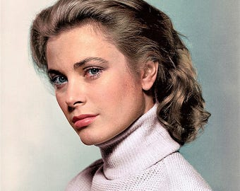 A portrait of American actress and Princess of Monaco Grace Kelly , 1950's