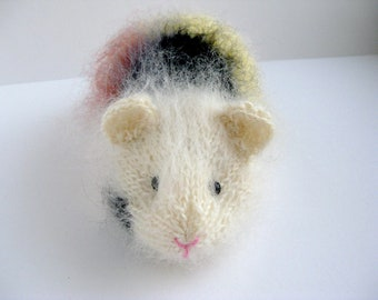 Guinea Pig, Knitted Giunea Pig, Mohair Guinea Pig, Stuffed Model Animal,