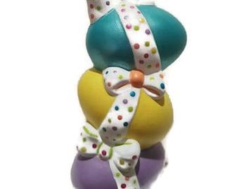 Egg stack | Ceramic eggs | Easter | Easter eggs | Painted