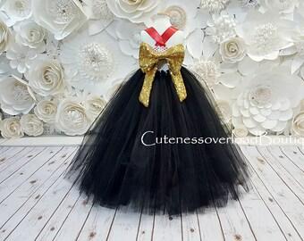 Black Tutu Dress-Black Flower Girl Tutu Dress-Black Bride Dress-Black Tutu-Black Dress-Black Girl Tutu-Black Halloween Dress-Black Costume.