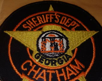 New Unused Patch CHATHAM COUNTY GEORGIA Sheriff's Dept