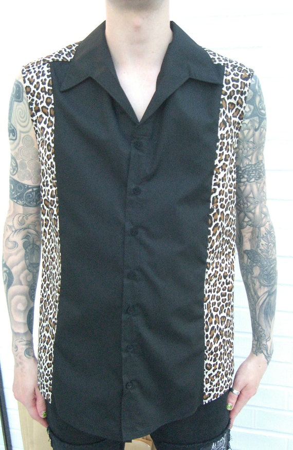 Rocker sleeveless shirt Supernal Clothing menswear goth gothic punk rockabilly psychobilly mens alternative clubwear costume western surf kP4ssp12os