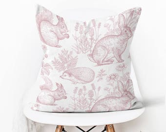 Pillow Cover Easter Decor Woodland In Blush