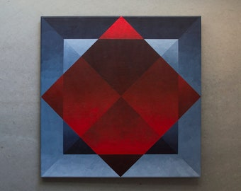 Large Original Geometric Abstract Painting by Leanne M. Kolpin - Color Field - Minimalistic