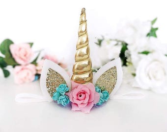 Unicorn Headband Unicorn Hair Clip Unicorn Horn Unicorn Birthday Newborn Unicorn Photo Props Girl Birthday Outfit Squishy Cheeks