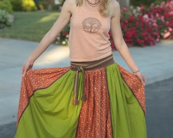 Long Maxi Skirt Colored