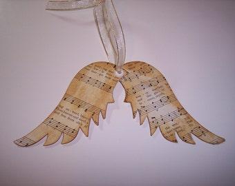 Angel Wings with Vintage Music Die Cuts
