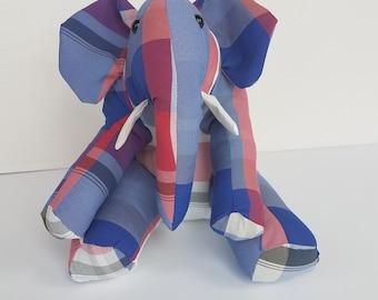 Memorial Elephant - Stuffed Elephant Personalized - Custom Elephant Stuffed Animal - Elephant - Keepsake Elephant - Cuddles and Keepsakes