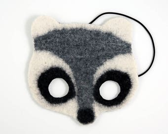 Felt Mask, Raccoon Mask, Children's Mask, Fair Trade Mask