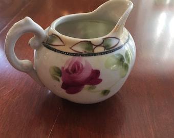 Vintage floral Pitcher /Creamer