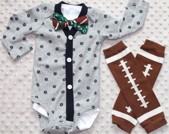 Baby Boy Cardigan Bow Tie Set, Baby Suit, Leg Warmers, Trendy Baby Boy Outfit, Football Outfit, Baby Boy Clothes