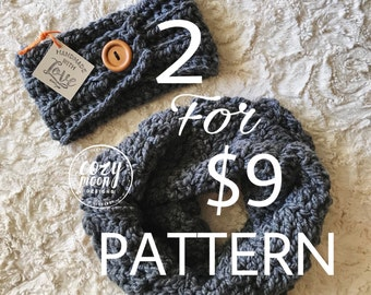 2 PATTERNS // River Birch Cowl and Hawthorne Ear Warmer Pattern