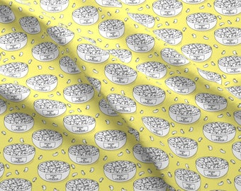 Macaroni and Cheese Fabric - Mac and Cheese  Yelllow By Lilcubby - Cheesy Pasta Kids Hipster Food Cotton Fabric By The Yard With Spoonflower