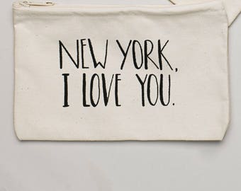 New York, I Love You Zippered Pouch