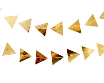 Gold Banner, Gold Foil Triangle Garland