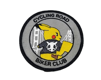 Cycling Road Biker Club Pokemon Inspired Iron-on Patch | Hand Made Patch | Pokemon Patch