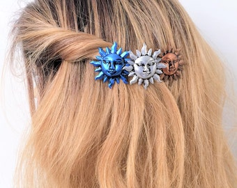 Sun Hair Barrette, Celestial French Barrette