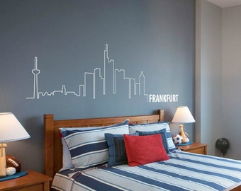 Frankfurt Skyline Wall Decal Cute Vinyl Sticker Home Arts Europe City Wall Decals WT096