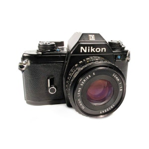 Nikon EM 35mm film camera from 1980s Image -High Quality 4000px Digital Download