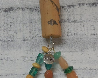 Wine cork bullet hope key chain/ key ring/  keychain with spent bullet -grad gift- graduate gift-2018 graduate
