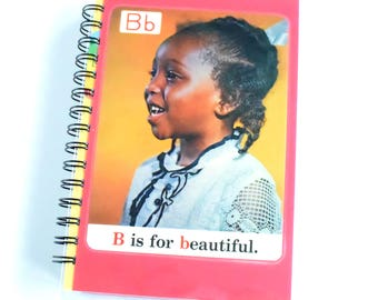 B is for Beautiful 1970s ABC Flash Card Notebook