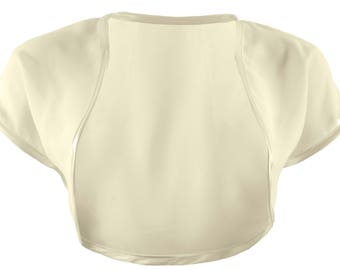 Ladies Ivory Chiffon Bolero Shrug Sizes 4-32