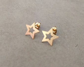 Star Stud Earrings, Gold Stud Earrings, Gold Earrings, Star Studs, Stud Earrings, Gold Post Earrings, Ear Studs, Star earrings, gold studs