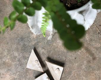Handmade Mid-Century Modern Inspired Ceramic Magnet Set