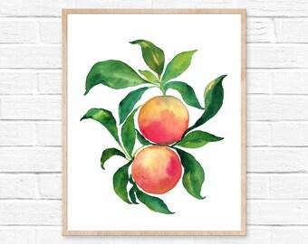 grapefruit watercolor fruit citrus painting wall art grapefruit art kitchen orange kitchen decor print art lemon summer watercolor fruit