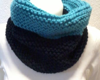 snood two colors, neck strap, collar scarpe