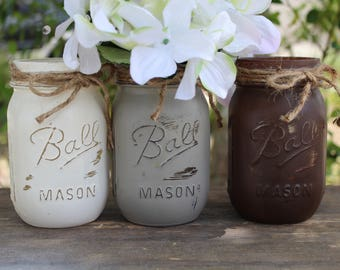 Centerpieces for Dining table Mason jars Country home decor Country kitchen decor Hostess gifts Dining room centerpiece