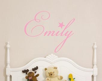 Custom Childrens Wall Decal - Girls Name Wall Decal - Nursery Wall Decal - Personalized Name Decal - Vinyl Wall Decal -Bedroom Nursery Decor