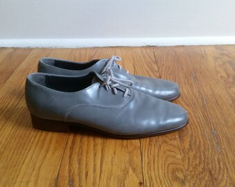 granny shoes leather oxfords, vintage granny shoe hipster shoes, grey leather shoes womens oxfords 7 1/2