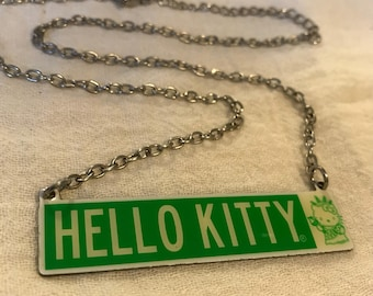 Vintage Hello Kitty Necklace - New York Street Sign